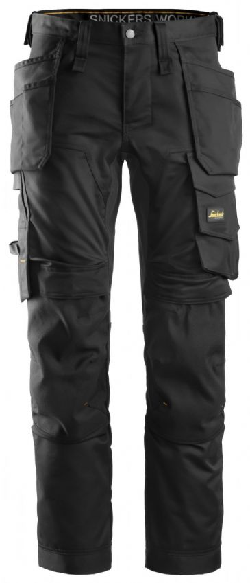 Snickers 6241 AllroundWork Stretch Work Trousers with Holster Pockets (Black)
